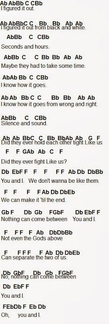 Flute Sheet Music: One Direction You and I p1