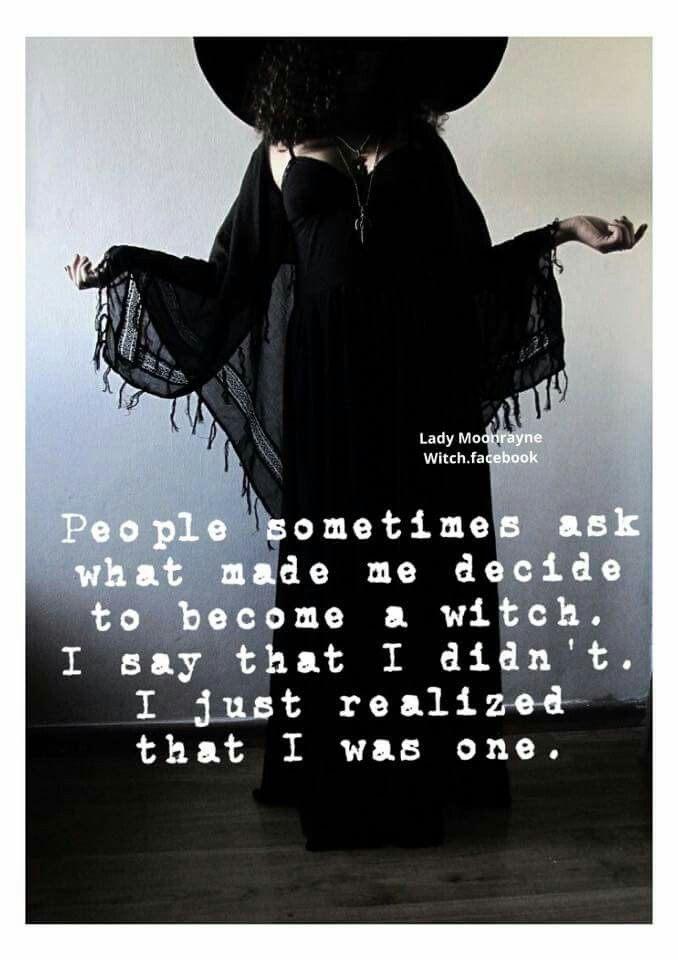 I just realized that I was one. - Pinned by The Mystic's Emporium on Etsy