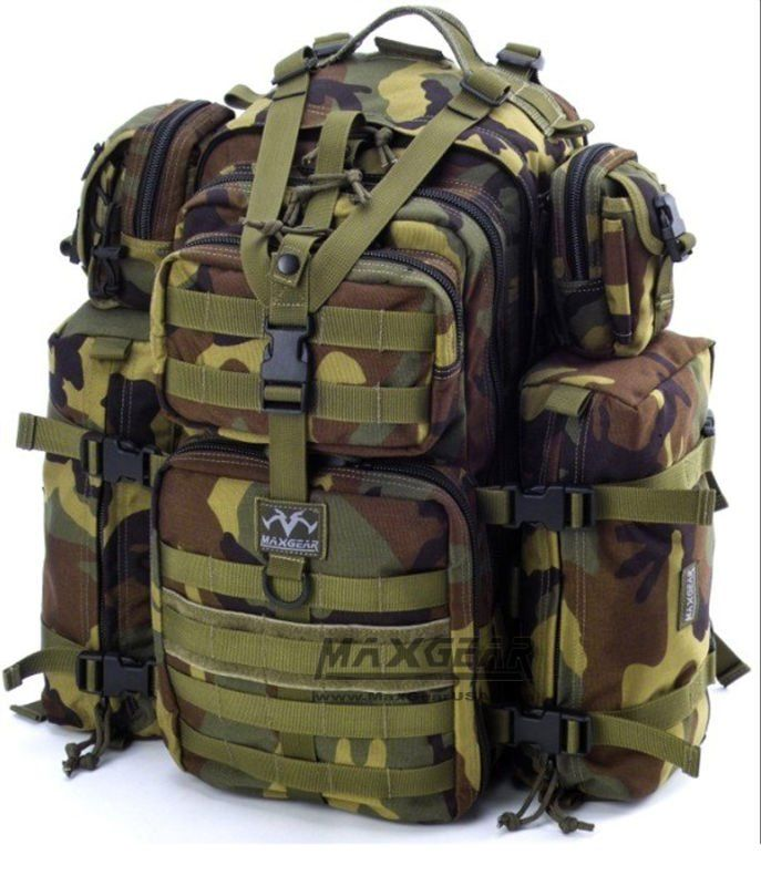 Maxgear Falcon-III Backpack   Army Backpack   Hydration Compatible Army Rucksack