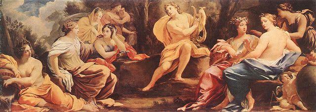 Παρνασσός - Απόλλων και μούσες (1640)