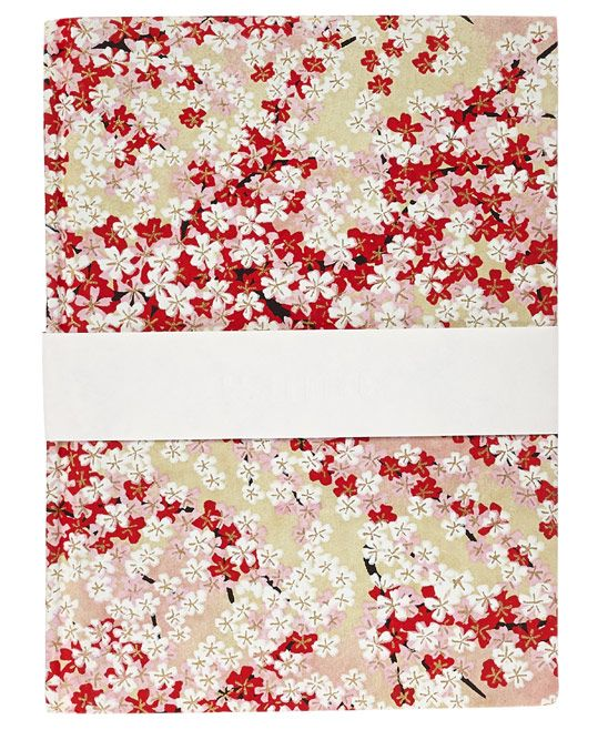 Medium Red Blossom Notebook