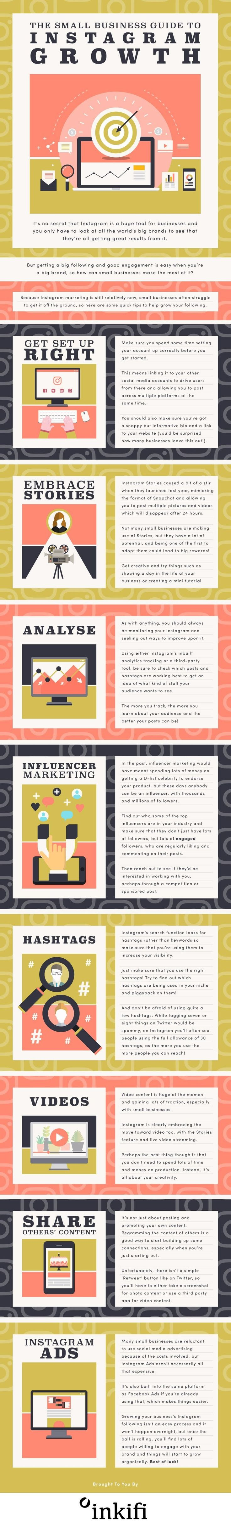 The Small Business Guide to Instagram Growth - #infographic