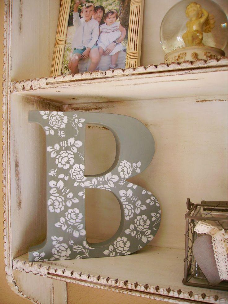 Las 25 mejores ideas sobre letras decoradas en pinterest y - Letras de madera para decorar ...