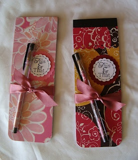 Bumble Bee's Craft Den: Pretty Notepads and Pens