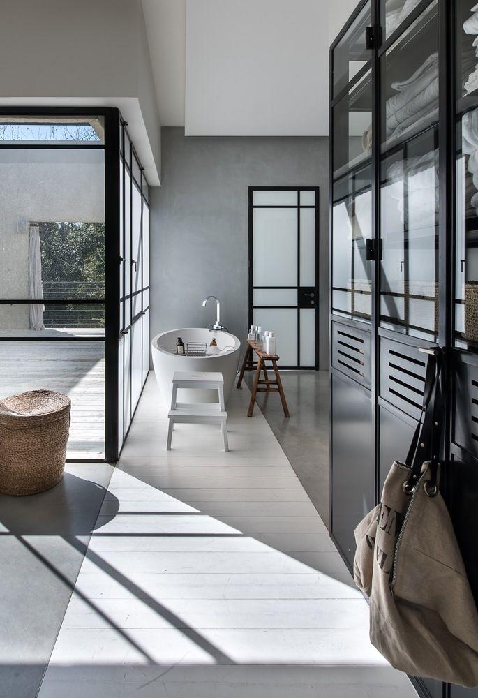 Open, non-private bathroom space