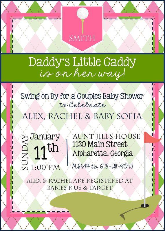 Girl Golf Baby Shower Invitation Girl by LibertyAndLilacPaper