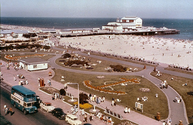 Marine Parade, Great Yarmouth (England) in the early 1960s