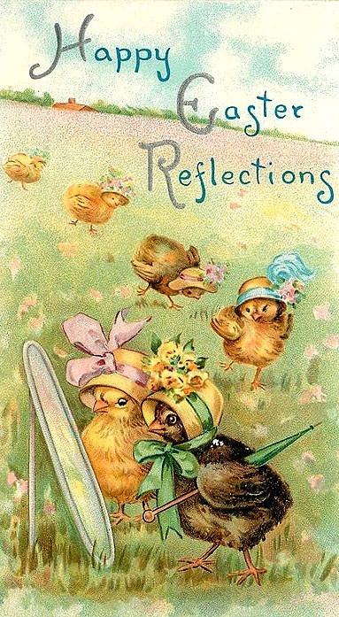 #Currysinthekitchen  Vintage Easter cards are the best but I love Easter cards even more than Christmas cards.