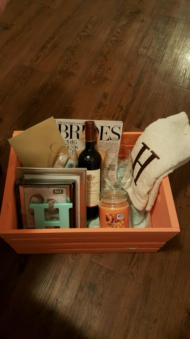 25 best ideas about engagement gift baskets on pinterest engagement gifts engagement basket. Black Bedroom Furniture Sets. Home Design Ideas