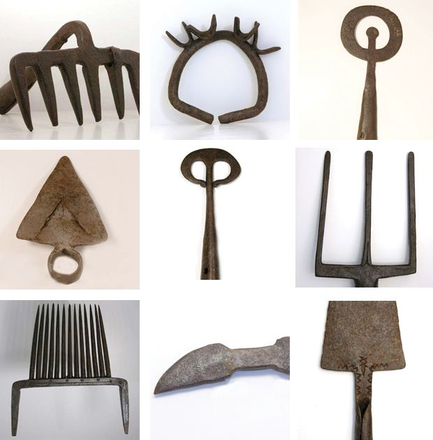 // 17th c. wrought iron tools