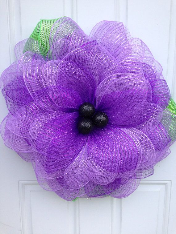 15 best images about deco mesh flower wreaths on pinterest. Black Bedroom Furniture Sets. Home Design Ideas