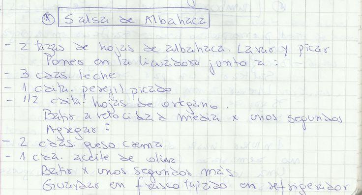 SALSA DE ALBAHACA   #SALADO #SALSAS #SALSA #ALBAHACA