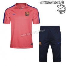 Prix Nouveau Training T-Shirts FC Barcelone + Pantalon 3/4 Orange Kit 2016 2017 Soldes | maillots-sport