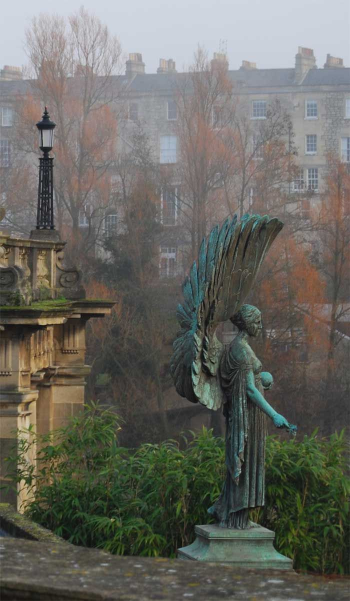 Angel Statue, Bath, England -- by Jackie Morris