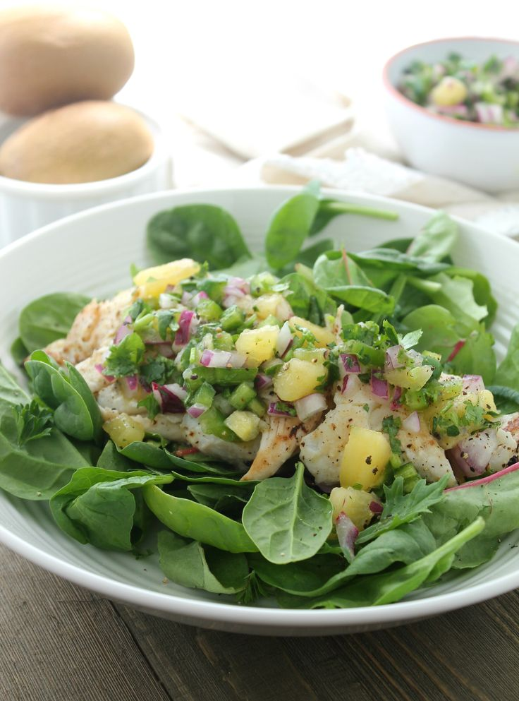 Grilled Haddock Salad with Kiwi Lime Cilantro Salsa via JennySheaRawn.com. This Grilled Haddock Salad with Kiwi Lime Cilantro Salsa just screams summer! Make it for lunch or a light dinner paired with warm whole grain dinner rolls – or any whole grain you have on hand (black rice or quinoa would be great – even throw it on top of the greens before placing the fish and salsa on top). #sponsored @zesprikiwifruit