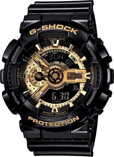 Cool looking watch.  G-Shock at it again.  Yet it is shock resistant.  Shocking!