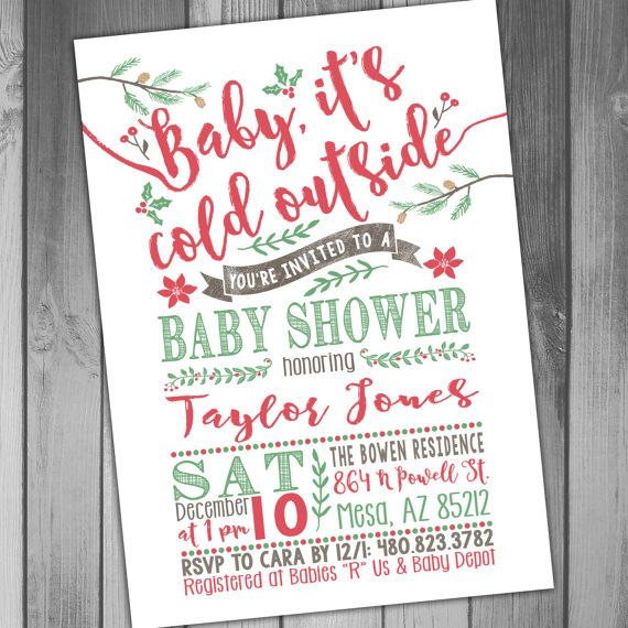 baby shower printable baby shower holiday baby winter baby shower baby