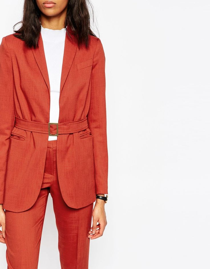 Long co-ord blazer with belt