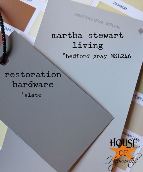 Restoration Hardware Slate Martha Stewart Bedford Gray Paint