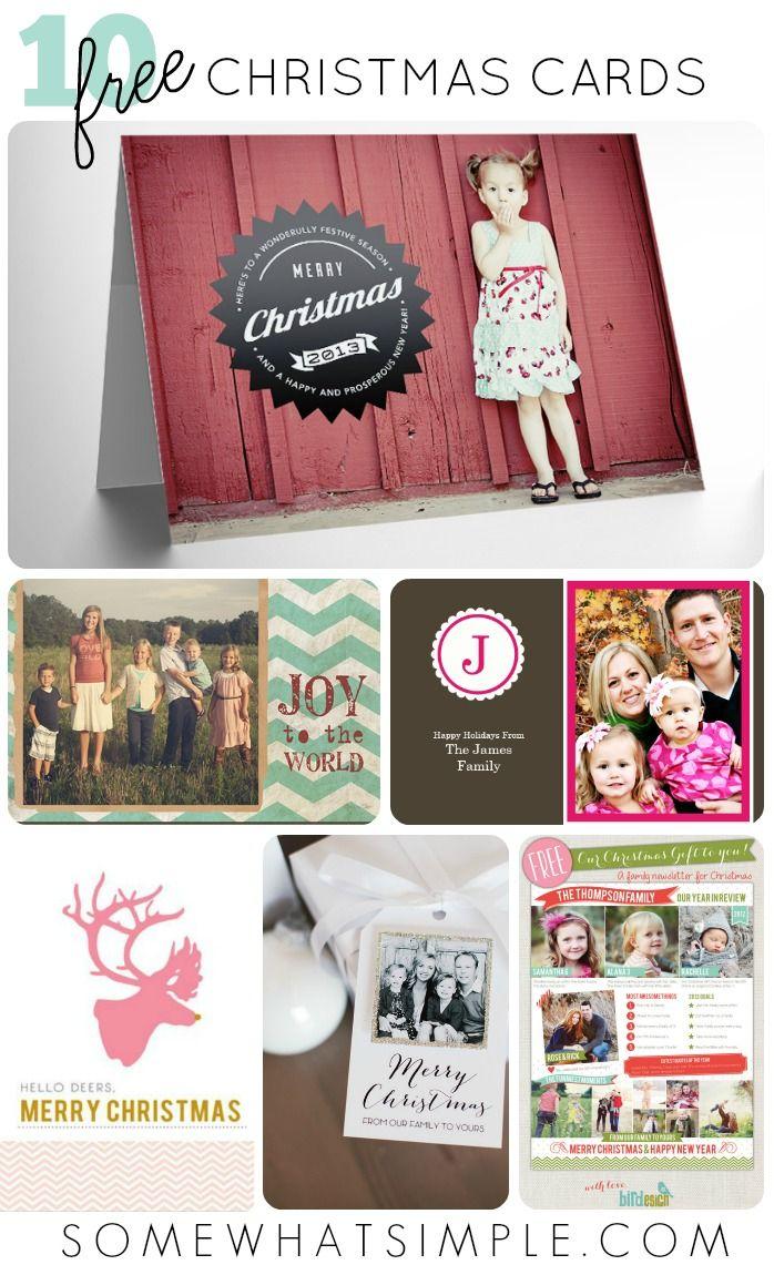 10 free Christmas Card Templates
