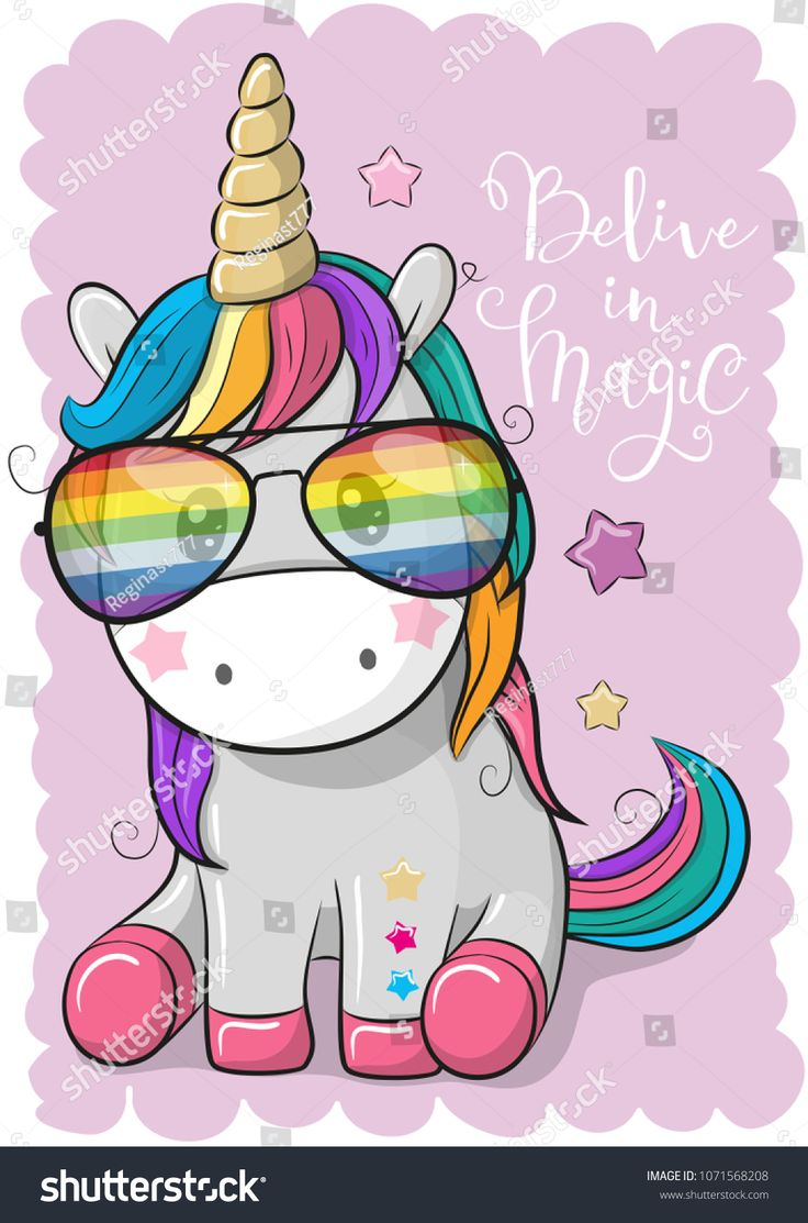 cute unicorn cartoon - 736×1113