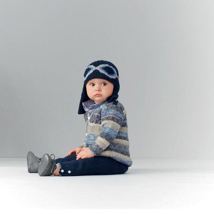 Un bonnet de bébé style aviateur