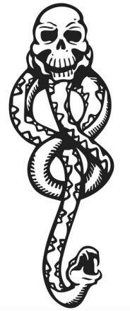 Harry Potter - Dark Mark | TattooForAWeek.com - Temporary Tattoos - Fake tattoos, temporary tattoos on Tattooforaweek - Snakes - WC/K3-L14-R3-K1