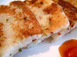 How to make Turnip Cake, Radish Cake, Daikon Cakes, Luobo Gao, Lok Bok Gow, Dim Sum recipe