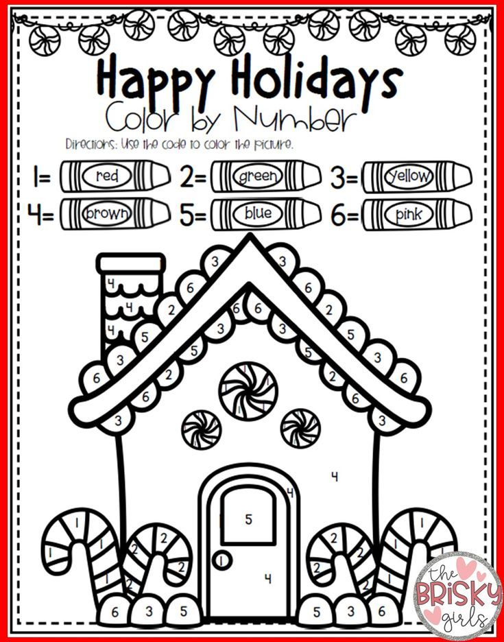Christmas Color By Number Preschool Christmas Activities Christmas Coloring Pages Winter Activities For Kids