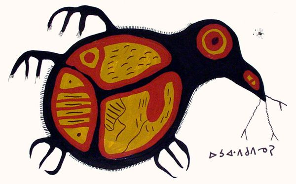Norval Morrisseau, Bird 1971