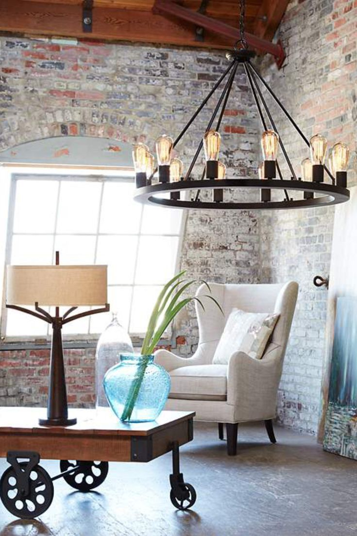 A Gorgeous Farmhouse Chandelier Gives That Rustic And Quality Feel