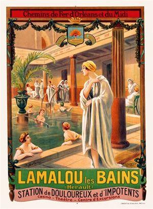 1905 Lamalou les Bains, vintage France SPA /Thermal resort