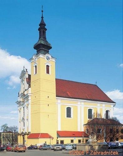Farní kostel Blahoslavené Panny Marie © http://www.mesto-kromeriz.cz