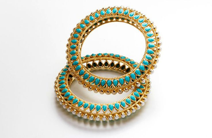 Manish Arora @Amrapali Satpudke Satpudke Jewels collection Candy Bijou bangle with pearls and turquoise (21,300 INR).