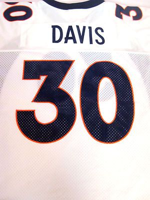 Terrell Davis #30 Denver Brocos White Vintage Throwback Jersey Size Large NWT