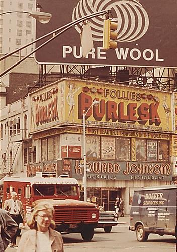 1960s Times Square Vintage Billboards HOJO Howard Johnsons Burlesk Follies