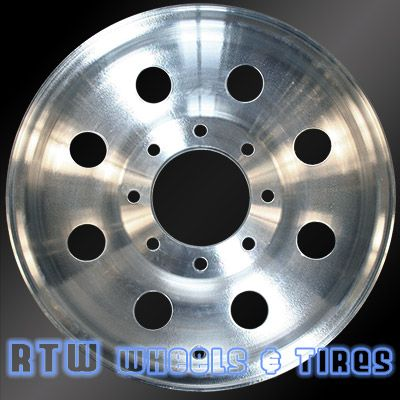 """Ford F250 F350 wheels for sale 99-00. 16"""" Brushed Machined OEM rims 3338 - http://www.rtwwheels.com/store/shop/ford-f250-f350-wheels-for-sale-99-00-16-brushed-machined-rims-3338/"""