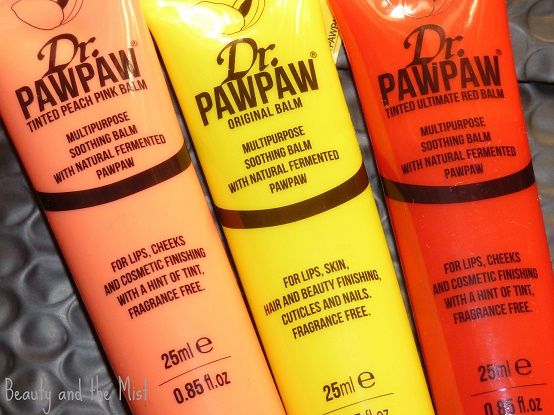 Beauty and the Mist - everything about beauty: Dr. Paw Paw Lip Balms Review