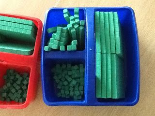 Organizing base ten blocks- use an organizer for each table!  Then students can easily get the base ten blocks they need!
