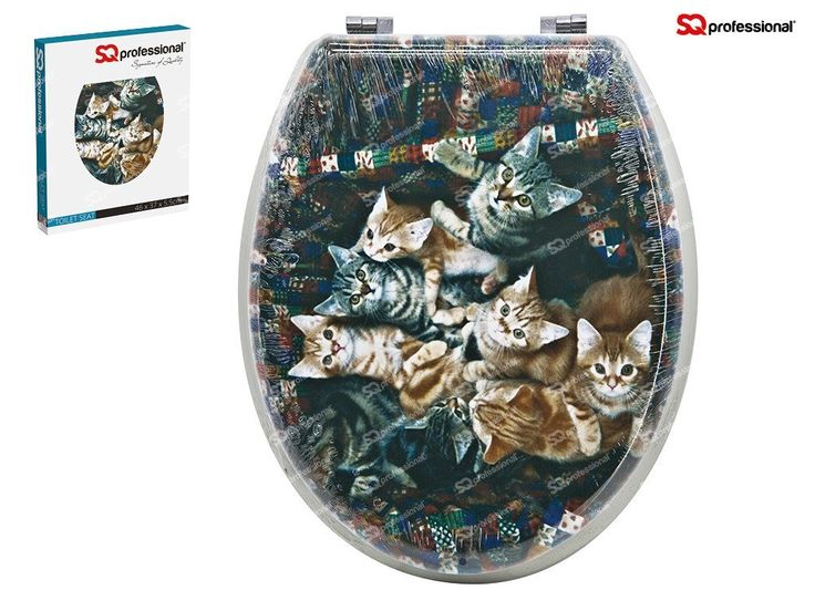 Beautiful Print Design Toilet Seats Solidly Made Durable Fast Installation BNIB (Kittens Print): Amazon.co.uk: Kitchen & Home