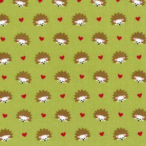 Michael Miller House Designer - Fox Woods - Hedgehog Heaven in Lime