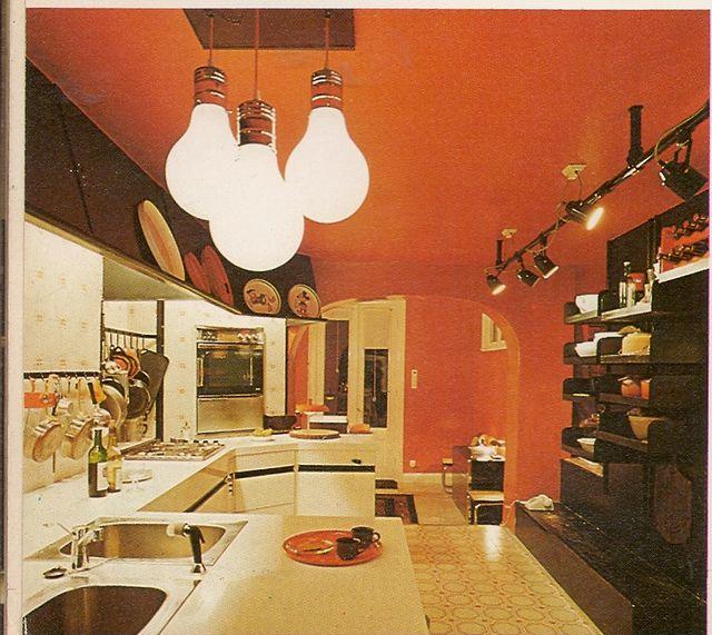 1970s Kitchen, 70s Decor And Orange Kitchen Wallpaper