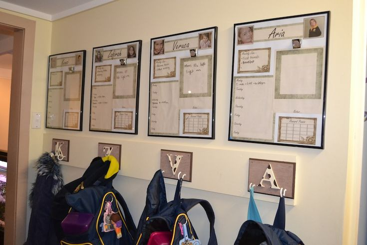 Creating An Organisation Station For A Large Family – School Bags & Chores » The Organised Housewife