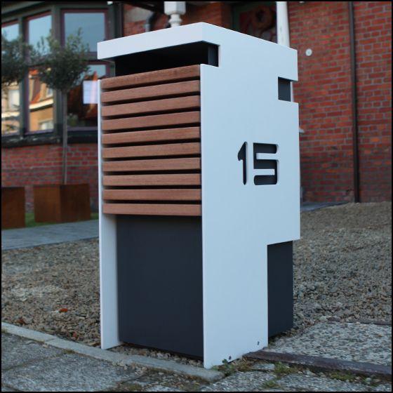 design brievenbus in bauhaus stijl gelakte aluminium. Black Bedroom Furniture Sets. Home Design Ideas