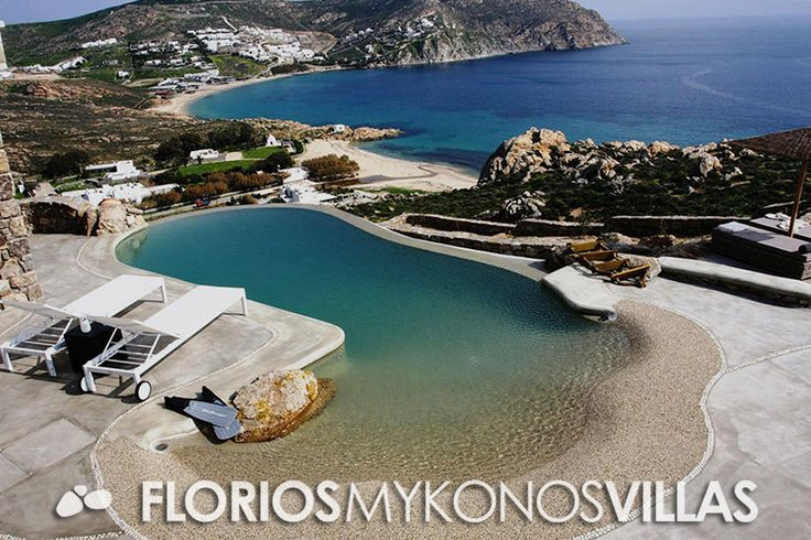 This amazing Villa for Rent is the place for those seeking a hidden gem. Located in a secluded position on top of Agrari Beach, on Mykonos island provides tranquility, stunning sea views and total privacy. FMV1482 Villa for Rent on Mykonos island Greece. http://florios-mykonos-villas.com/property/fmv1482/