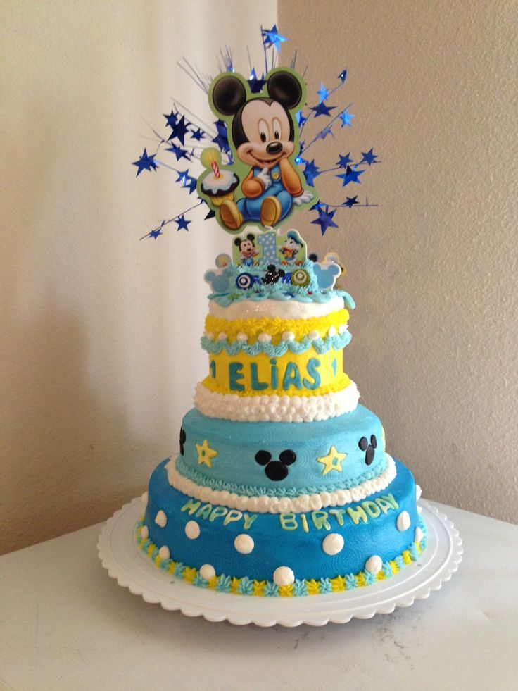 Mickey Mouse Cake First Birthdays Baby Mickey Cake Mickey Mouse 1St