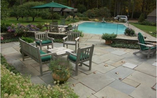 Pool with Natural Stone Patio