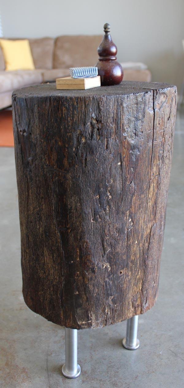 Best 25 tree stump side table ideas on pinterest tree for Diy wood stump table