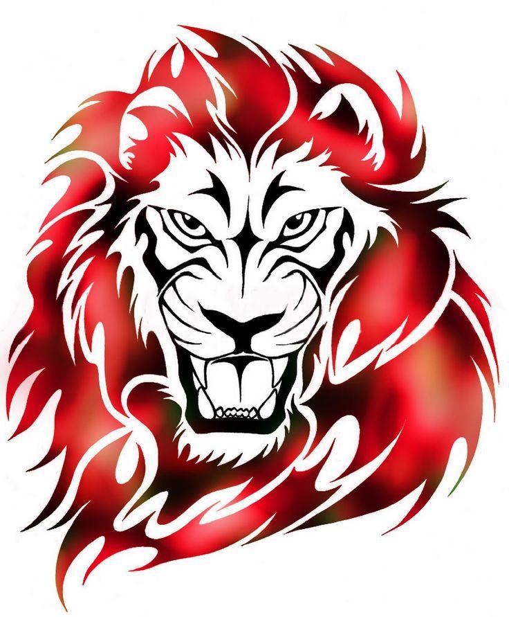 Tribal_Flame_Lion_Tattoo_by_WildSpi.jpg (845×1024)