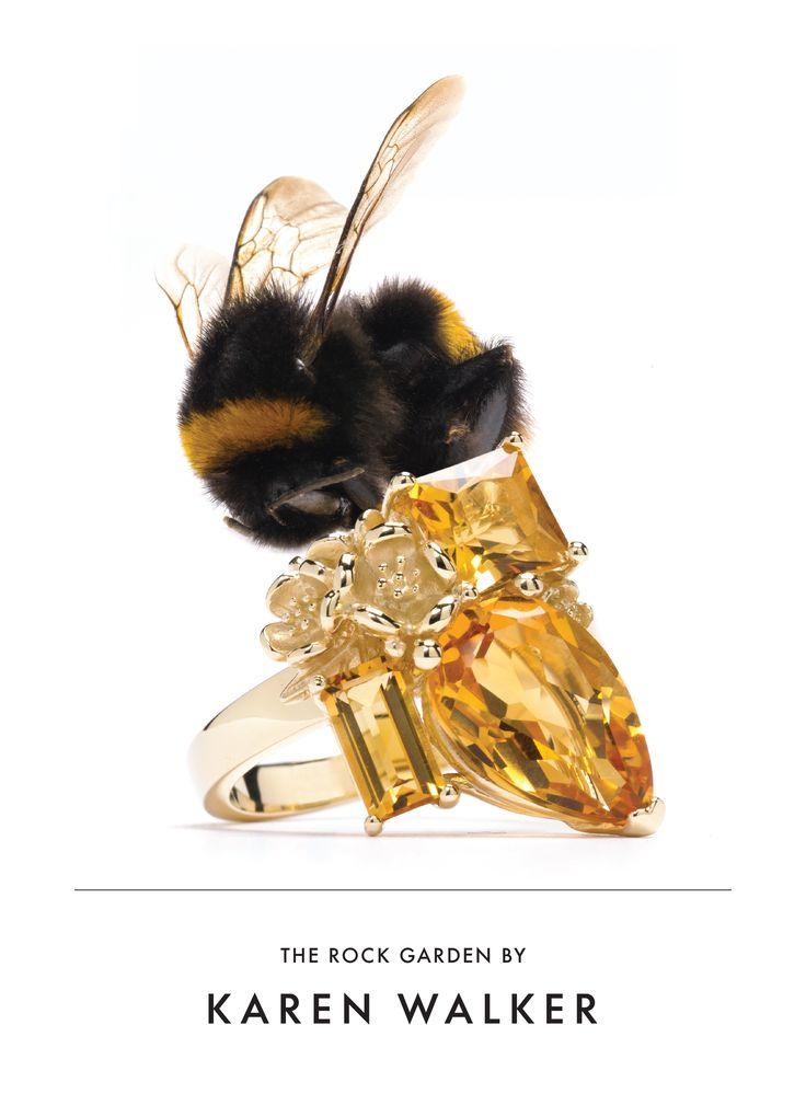 Karen Walker Citrine Rock Garden Ring